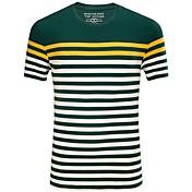 メンズ カジュアル/普段着 夏 Tシャツ,シンプル ラウンドネック ストライプ コットン スパンデックス 半袖 ミディアム