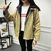 ulzzangコート韓国女性の学生緩い春の偽2つの原宿bfの風のジャケット短い段落野球の制服