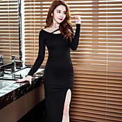 高スリットドレスセクシーなナイトクラブのドレスの制服のスカートのスカートスリム底入れの兆候2017年春の長いセクション