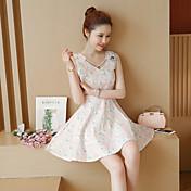 新しい春と夏2017ドレスを底小さな新鮮な花のスカートの綿のベストのスカート細い腰だった署名