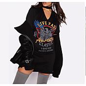 Aliexpress ebay deseo explosión modelos águila impresión halter vestido sexy camiseta