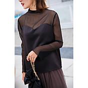本当に2017春の新しい3色の気質のガーゼシャツのシャツのブラウスのステッチングの視点を作るスポット