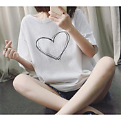 Verano nueva impresión de la personalidad salvaje de manga corta camiseta amor coreano femenino suelto
