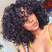 Pelucas sintéticas Sin Tapa Medio Rizado Afro Negro Peluca natural Las pelucas del traje