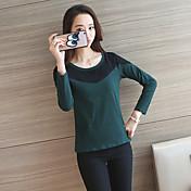 カジュアル長袖Tシャツの2017看板の女性の新しい韓国語バージョン底入れシャツ野生のスリムコットンシャツステッチ
