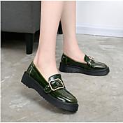 Mujer-Tacón Plano-Confort-Botas-Informal-Cuero-Negro Verde Ejército