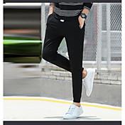pantalones de los deportes masculinos hombres pantalones largos primavera sección delgada de algodón ocasionales rectos delgados