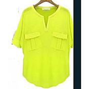 夏のヨーロッパの夏の半袖VネックモーダルコットンTシャツシャツTシャツ