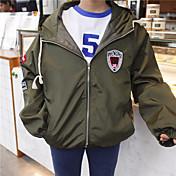春のコート女子学生の原宿BF風ガウンの2017韓国語バージョンを、大学野球のユニフォーム学生をガールフレンドに署名
