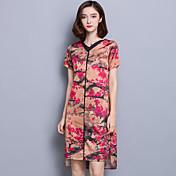 重い絹のドレス中年女性に署名'ハイエンドシルクのsの夏の新しいレトロ長いセクション
