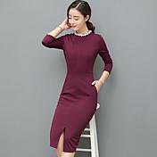 Signo rebordear 2017 primavera nueva costura vestido de gran tamaño