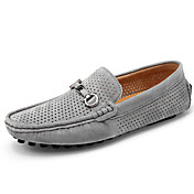 Hombre Zapatos de taco bajo y Slip-Ons Confort Zapatos De Buceo Cuero de Cerdo Verano Otoño Casual Confort Zapatos De Buceo RemacheTacón