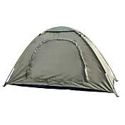 1 Pessoa Tenda Único Tenda Dobrada Um Quarto Barraca de acampamento 2000-3000 mm Fibra de Vidro Oxford Prova-de-Água Portátil-Equitação