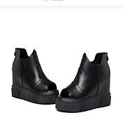 MujerSuelas con luz-Zapatos de taco bajo y Slip-Ons-Informal-PU-Negro