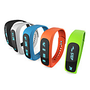 e02 pulsera bluetooth deporte reloj inteligente tiempo pulsera sana / identificador de llamadas / alarma / monitor de sueño podómetro para