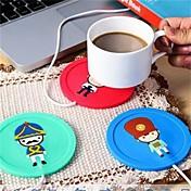 1pcs usb hub copo aquecedor escritório café chá caneca aquecedor almofada mat inverno bebida cor aleatória