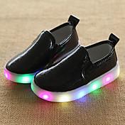 男の子-ウェディング アウトドア カジュアル-PUレザー-ローヒール-赤ちゃん用靴 ライト付きソール 靴を点灯 ルミナス靴 コンフォートシューズ-ローファー&スリップアドオン-