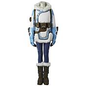 に触発さ 見張ります エース ビデオ ゲーム コスプレ衣装 コスプレスーツ 水玉 ホワイト ブルー ロング コート パンツ ヘッドピース 手袋 ベルト ストラップ シューカバー 多くのアクセサリー