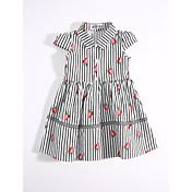 女の子の カジュアル/普段着 ストライプ コットン ドレス 夏