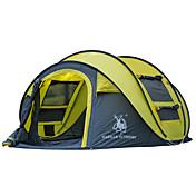 GAZELLE OUTDOORS 3 a 4 Personas Tienda Solo Carpa para camping Tienda de Campaña Automática Impermeable Resistente al Viento Resistente a