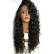 黒い女性のためのホットグルーレスレースのフロント人間の毛のかつら安いブラジルの処女の人間の髪130%の密度のレースの前髪