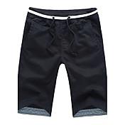 メンズ ストリートファッション ミッドライズ ストレート 非弾性 ストレート パンツ ソリッド