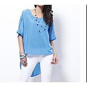 レディース お出かけ Tシャツ,シンプル ホルター ソリッド コットン 半袖
