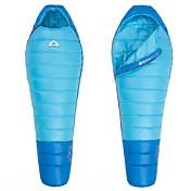 寝袋 マミー型 シングル 幅150 x 長さ200cm 0°C~+3°C ダックダウンX80cm ハイキング 釣り ビーチ キャンピング 旅行 屋外 保温 防風 通気性 ビデオ圧縮 HIGHROCK
