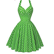 Women's Casual/Daily Beach Holiday Vintage Sheath Swing Dress,Polka Dot Strap Knee-length Sleeveless Cotton Polyester Summer High Rise