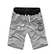 Pánské Aktivní Mikro elastické Kalhoty chinos Tepláky Kalhoty Volné Mid Rise Jednobarevné
