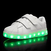 Chico Zapatillas de deporte Zapatos con luz TPU Verano Otoño Casual Zapatos con luz LED Tacón Bajo Blanco Negro Púrpula ClaroMenos de 2'5