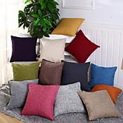 1 PC Algodón/Lino Cobertor de Cojín Funda de almohada,Sólido Novedad Casual Tradicional/Clásico