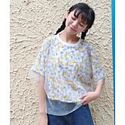 レディース カジュアル/普段着 夏 Tシャツ,シンプル ラウンドネック プリント その他 半袖 薄手