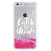 ケースfor apple iphone7 7プラスキラキラ輝く言葉が流れる液体パターンソフトtpu 6s plus 6 plus 6s 6