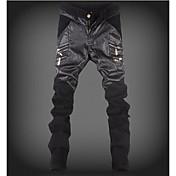 Pánské Šik ven Mikro elastické Kalhoty chinos Kalhoty Volné Mid Rise Barevné bloky