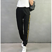 Mujer Chic de Calle Tiro Alto Microelástico Chinos Pantalones,Corte Ancho