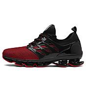 Hombre Zapatillas de Atletismo Innovador Ante Tul Primavera Verano Informal Deporte Tacón Plano Negro Negro/Rojo Negro / verde Plano