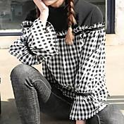 レディース カジュアル/普段着 シャツ,シンプル シャツカラー チェック ポリエステル 長袖