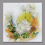 Hånd-malede Blomstret/Botanisk Moderne / Nutidig Et Panel Kanvas Hang-Painted Oliemaleri For Hjem Dekoration
