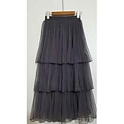 Mujer Noche Maxi Faldas,Holgado Verano Un Color