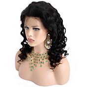 新しい到着ブラジルの処女の髪の自然な色130%の密度緩い波のレースのフロントのかつら赤ちゃんの髪の自然なヘアラインと人間の髪のかつら
