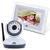 Monitor sin hilos del bebé 2.4g con la exhibición de dos vías de la ayuda TV de la visión nocturna del lcd de 7 '
