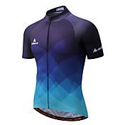 Miloto Maillot de Ciclismo Hombre Manga Corta Bicicleta Camiseta/Maillot Banda reflectante Secado rápido Eslático Transpirabilidad