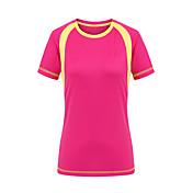 女性用 Tシャツ キャンピング&ハイキング 狩猟 登山 速乾性 耐久性 夏