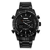 SKMEI Hombre Reloj de Moda Reloj de Pulsera Reloj digital Digital Calendario Resistente al Agua Esfera Grande Acero Inoxidable Banda Cool