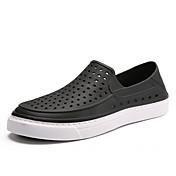 Hombre Zapatos de taco bajo y Slip-Ons Confort Goma Verano Casual Negro Azul Marino Rojo Azul Real Plano