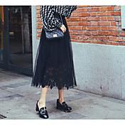 Mujer Noche Midi Faldas,Holgado Verano Un Color