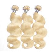 Precolored Tejidos de pelo Cabello Brasileño Ondulado Grande 6 Meses 3 Piezas los tejidos de pelo