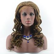 黒い女性のためのブラジルの処女の髪の緩い波の接着剤のないレースのフロント人間の毛のかつら#赤ちゃんの髪の色の自由な部分のレースのかつら