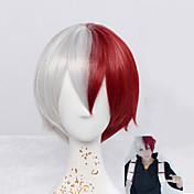 Syntetiske parykker Lågløs Kort Glat Naturligt, bølget hår Rød Cosplay Paryk kostume Parykker